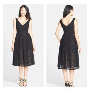 Bardot Rosie Fit and Flare Black Lace Dress Size 8